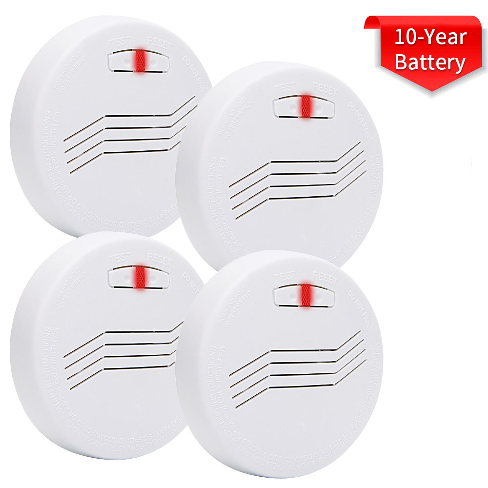 10 Years battery life span smoke detectors